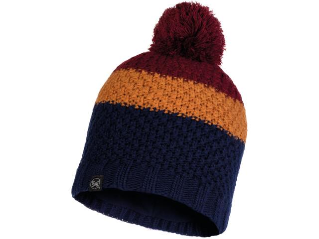Buff Jav Knitted & Full Fleece Hat Men, night blue